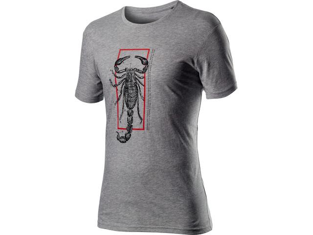 Castelli Logo T-shirt Heren, melange light grey